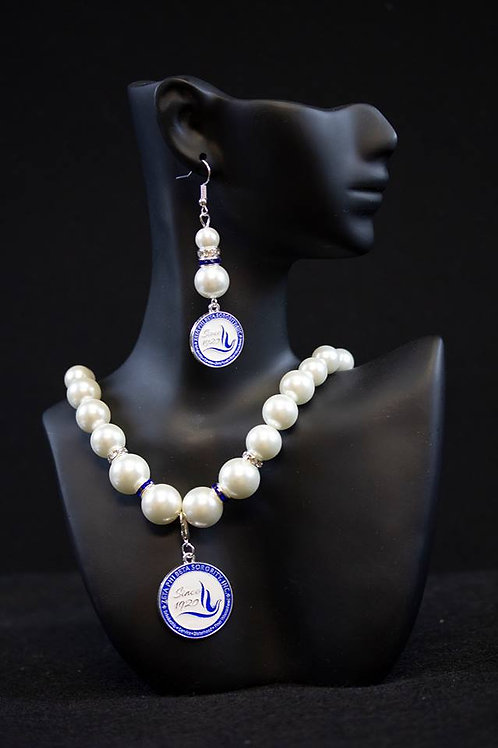 ZPB Pearl Necklace with Shield
