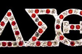 DST Variegated Austrian Silver Crystal Pin