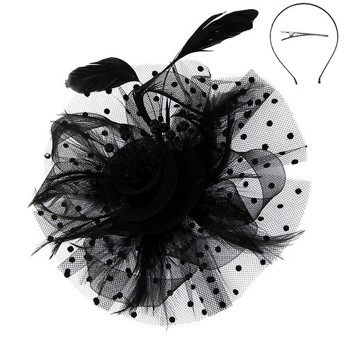 Black Polka Dot Hair Accessory