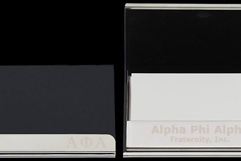 APA Leather Business Card Holder