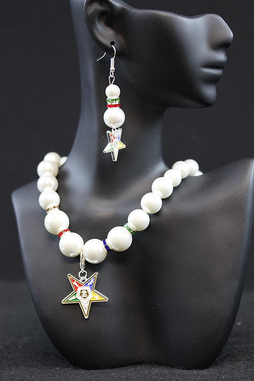OES Pearl Necklace with Shield
