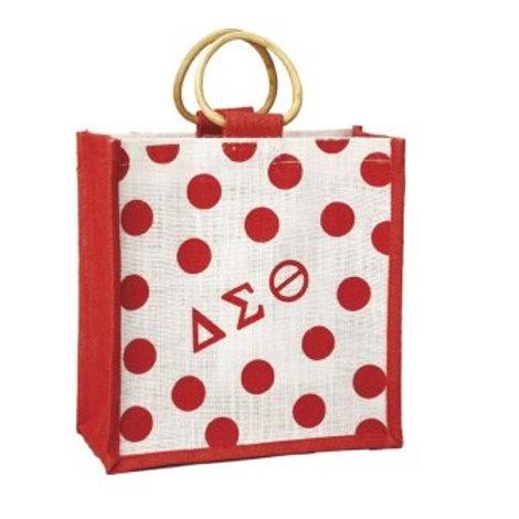 DST Mini Polka Dot Jute Bag