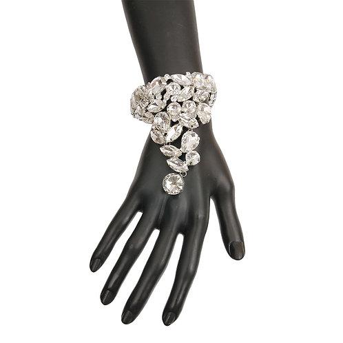 Silver and Rhinestone Bracelet
