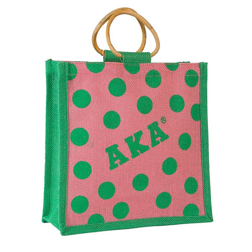 AKA Mini Polka Dot Jute Bag