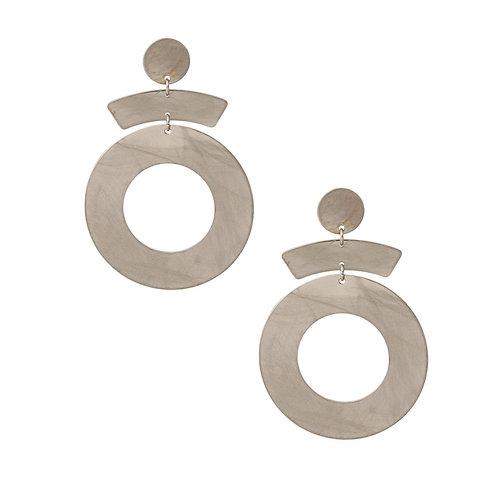 Brushed Metal Drop Earrings