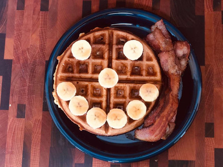 Banana-Nut Waffles: Breakfast just got a lot better.
