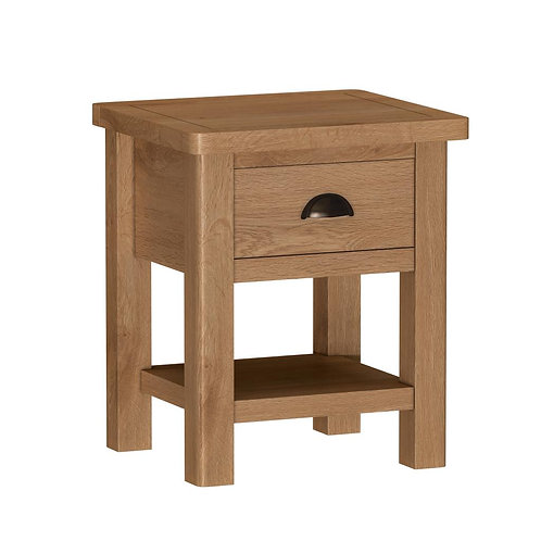 Vermont Oak 1 Drawer Lamp Table