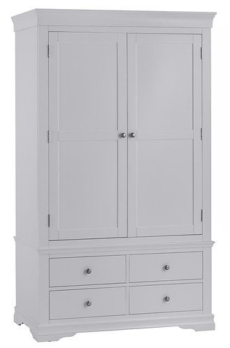 Washington Grey 2 Door 2 Drawer Wardrobe