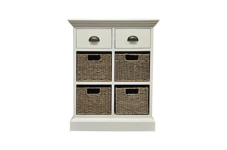 Wyoming 2 drawer 4 basket unit