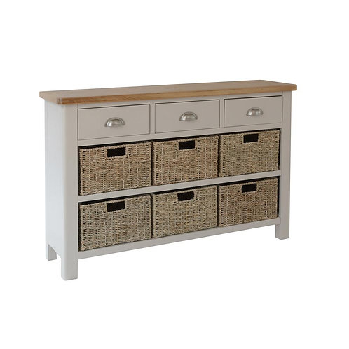 Vermont 3 Drawer 6 Basket Cabinet