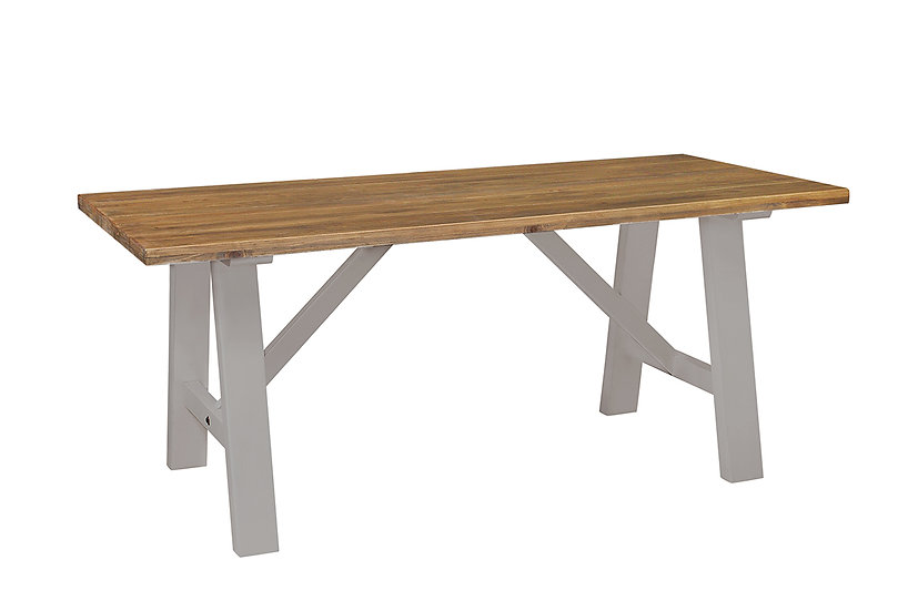 Cotswold Grey Rustic Trestle Table