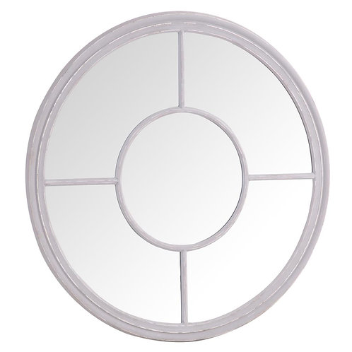 Round Window Mirror Grey