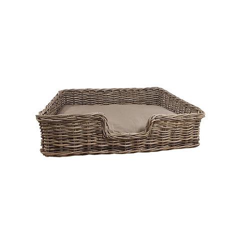 Wyoming Rectangular Dog Basket with Cushion 90x70x24