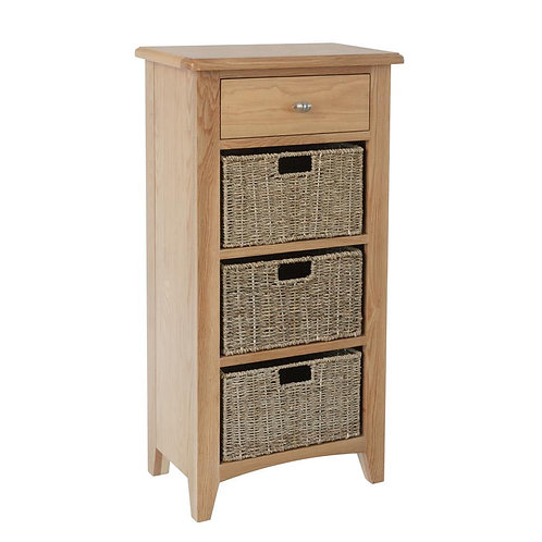 Nevada 1 Drawer 3 Basket Cabinet