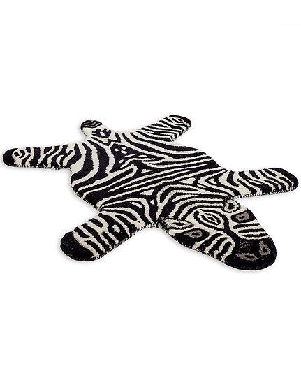 Hand Tufted Small Zebra Pretend Skin Woollen Rug