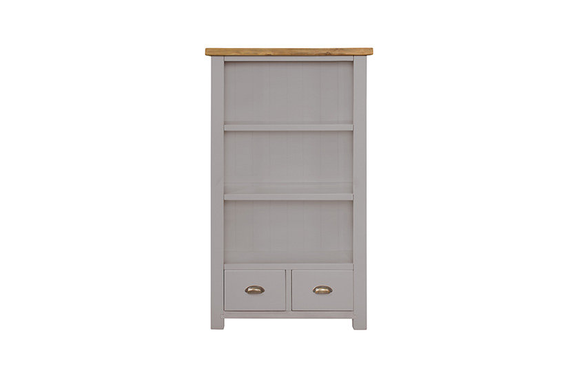 Cotswold Grey Rustic Large Bookcase