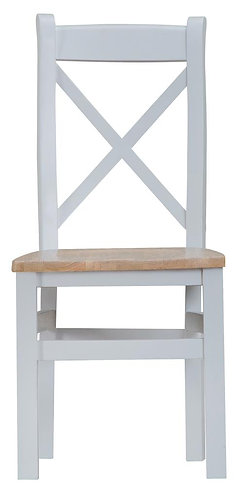 Cross Back Chair Wooden