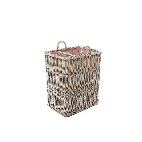 Wyoming Small Split Log Basket with Ear Handles and Lining