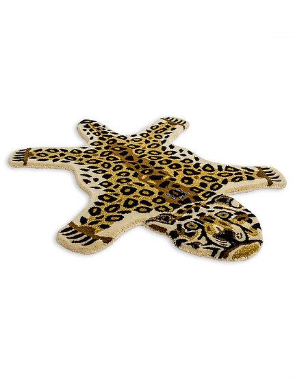 Small Faux Leopard Skin Woollen Rug