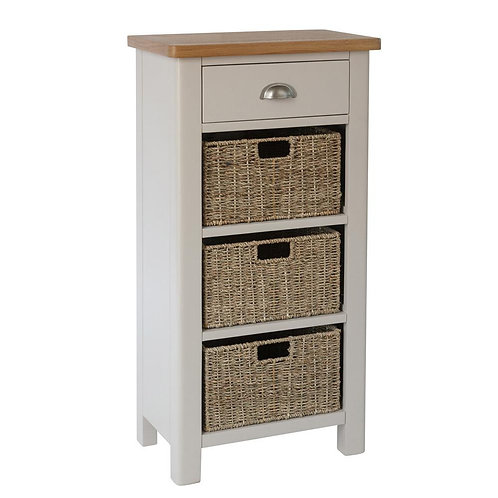 Vermont 1 Drawer 3 Basket Cabinet