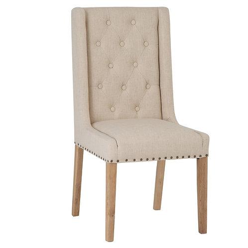 Texas Dining Chair - Beige Fabric (Pair)