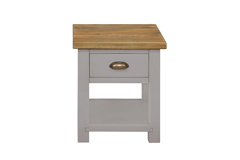 Cotswold Grey Rustic Lamp Table