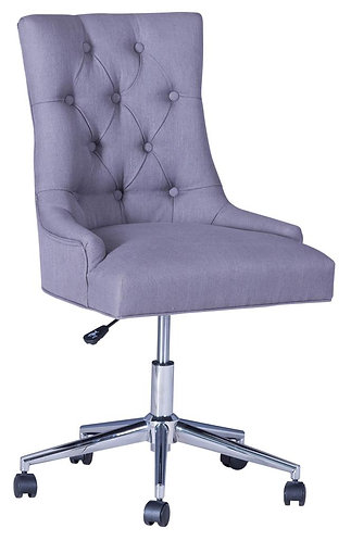 Office Chair w/curved button back-Grey (Pair)