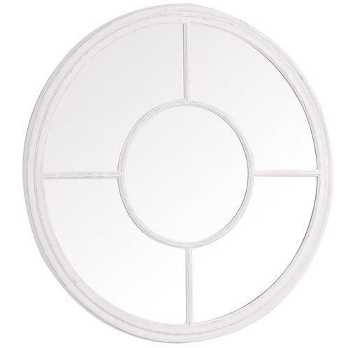 Round Window Mirror White