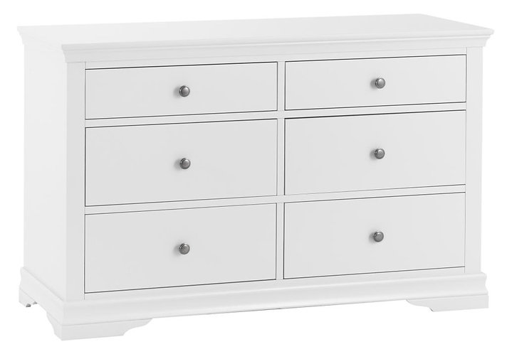 Washington White 6 Drawer Chest