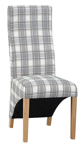 Wave Back Chair - Cappucino Check (Pair)