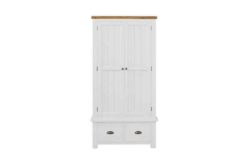 Cotswold White 2 Door 2 Drawer Wardrobe