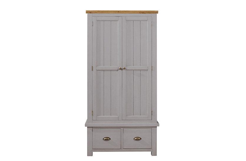 Cotswold Grey 2 Door 2 Drawer Wardrobe