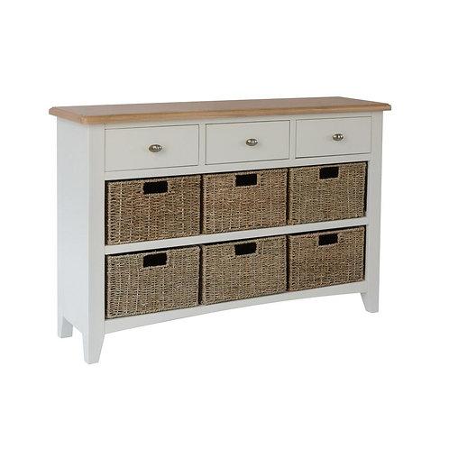 Nevada 3 Drawer 6 Basket Cabinet