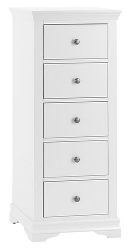 Washington White 5 Drawer Wellington