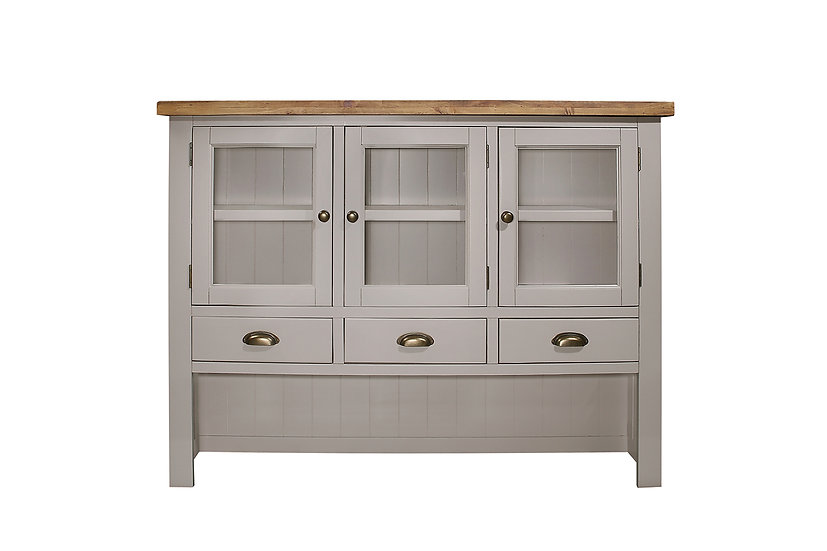 Cotswold Grey Rustic Large Hutch
