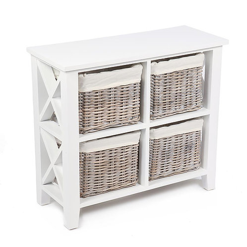 Wyoming 4 basket Square X cabinet w/linings