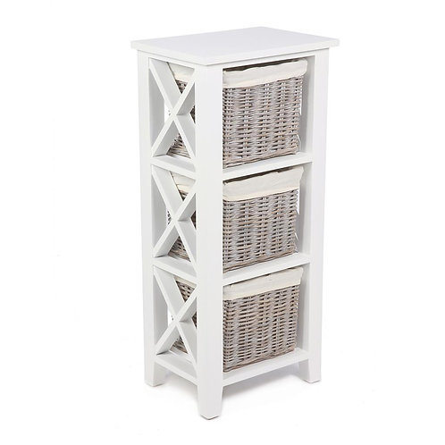 Wyoming 3 basket vertical X cabinet w/linings