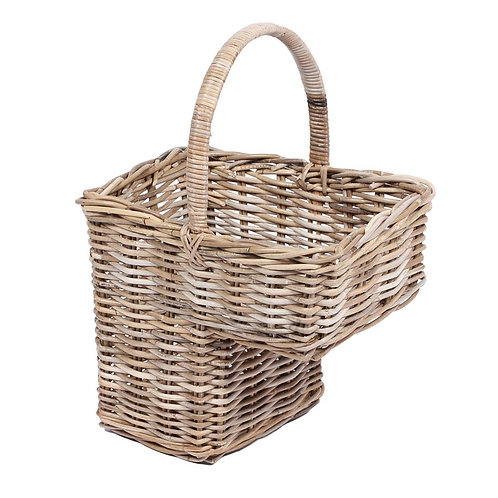 Wyoming Step basket w/high handle in grey