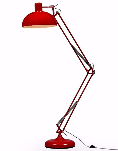 Red Extra Large Classic Desk Style Floor Lamp (Purple Fabric Flex)