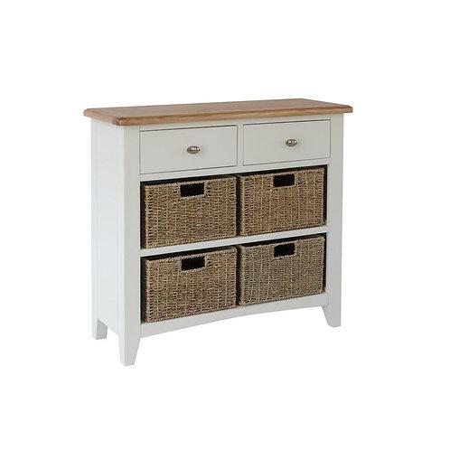 Nevada 2 Drawer 4 Basket Cabinet