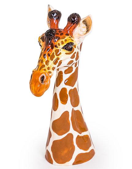 Ceramic Giraffe Head Tall Vase