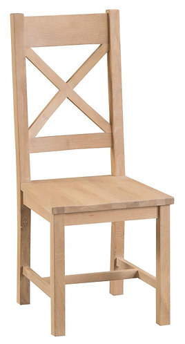 Cross Back Chair Wooden Seat