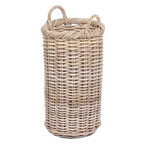 Wyoming Round tapered basket w/ear handles in grey