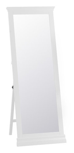 Washington White Cheval Mirror