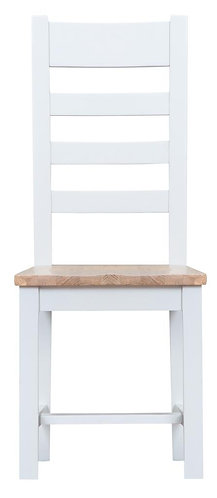 Ladder Back Dining Chair w/ Wooden Seat (Pair)