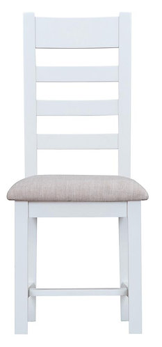 Ladder Back Dining Chair w/ Fabric Seat (Pair)