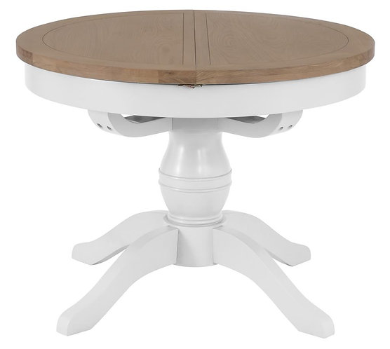 Round Butterfly Extending Dining Table