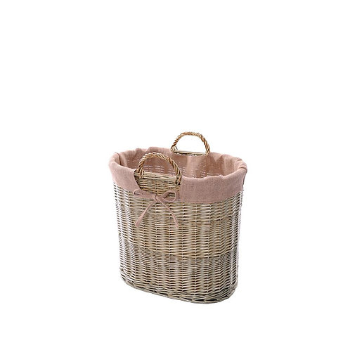 Wyoming Small Log Basket with Ear Handles and Lining