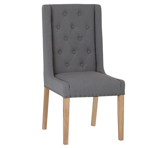 Texas Grey Fabric Dining Chair (Pair)