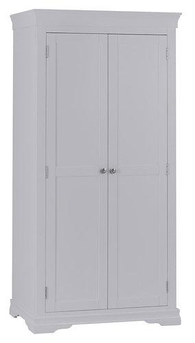 Washington Grey 2 Door Full Hanging Wardrobe